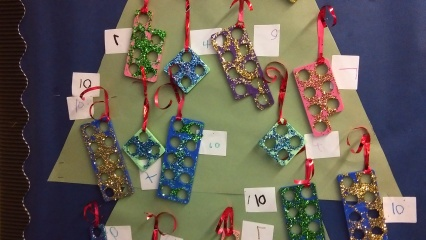 Children loved creating the Numicon decorations!