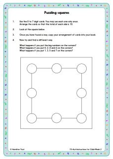 The questions prompt an attempt to explore number patterns within the solution.